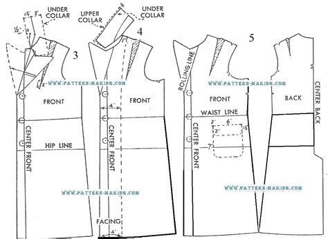 pattern making of jacket draft box coat 2 pattern making com