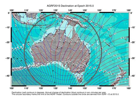 magnetic declination map prove that antarctica is a continent