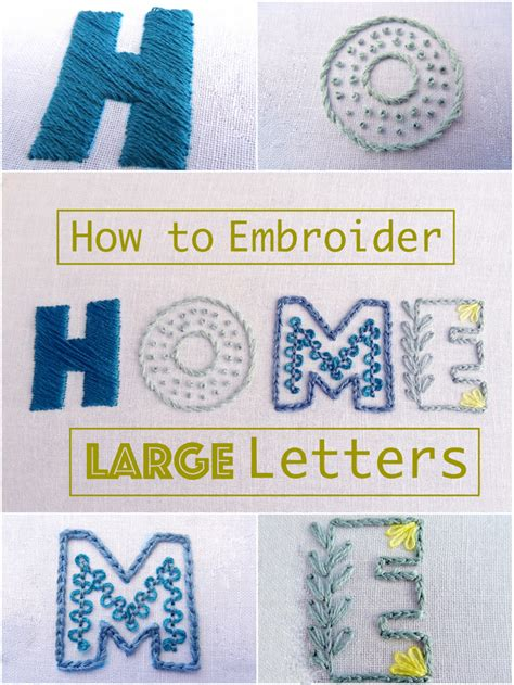 embroidery letters how to embroider large letters by part 2