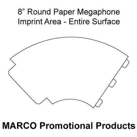 Free Printable Paper Megaphone Template Megaphone Craft Pattern Kids Preschool Crafts