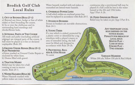 regulations and layout of a clubhouse course layout