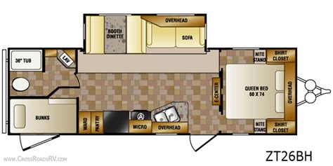 zinger travel trailers floor plans crossroads zinger 26bh bunkhouse cer all about cers