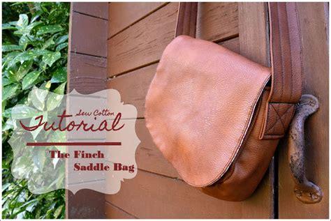 tutorial finch tas sew cotton tutorial de finch saddle bag