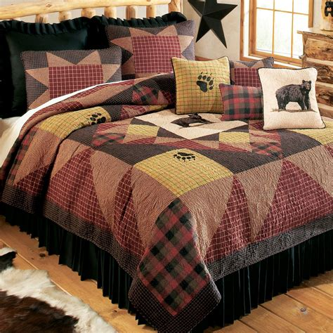 Plaid Patchwork Quilt - bears paw plaid patchwork quilt bedding by donna sharp