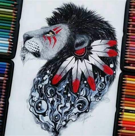 black and red tattoo style cool indian black and design