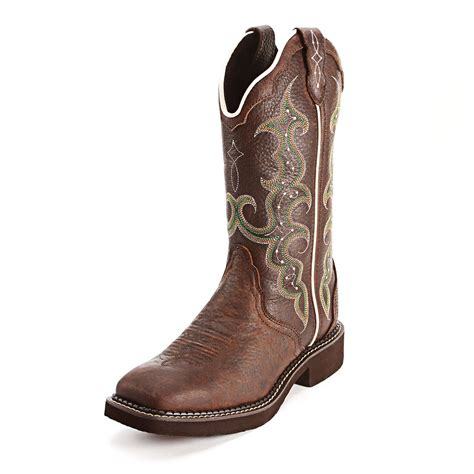 Gipsy Chocolate justin chocolate square toe boots shoes
