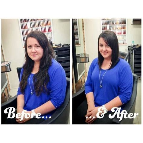 before and after haircuts medium to short before and after long hair to medium long bob glossylox