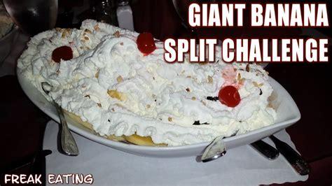 food challenge banana split challenge harry s
