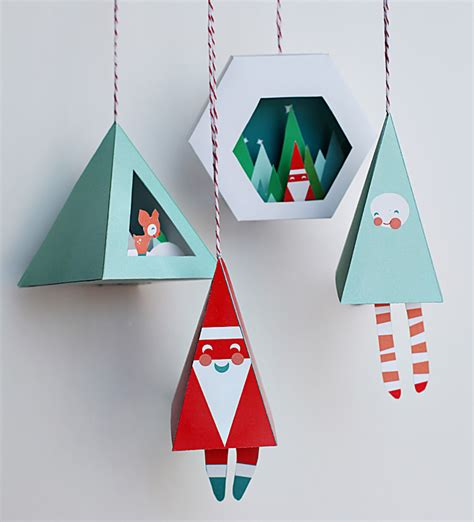 Printable Paper Christmas Decorations | diy christmas decorations with printable items petit small