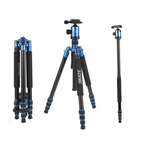 Monopod For Dslr zomei z818 professional aluminum tripod monopod for dslr blue ebay