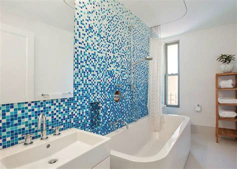 Cheap Bathroom Tiles Nyc Terrific Cheap Apartment Ideas With Window Blue Tile
