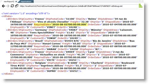 template xml exporting to xml file