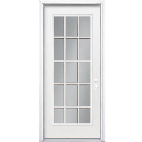 lowes 269 all glass shop reliabilt 32 in x 80