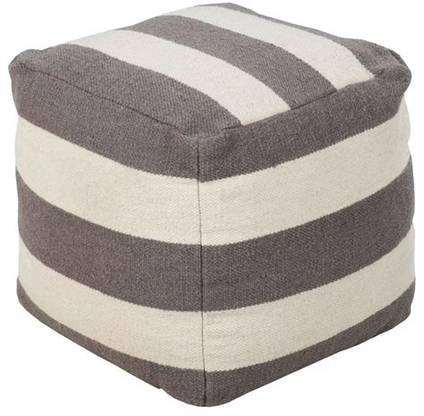 Gray Pouf Ottoman Contemporary Surya Poufs Square Gray Pouf Ottoman Contemporary Footstools And Ottomans By