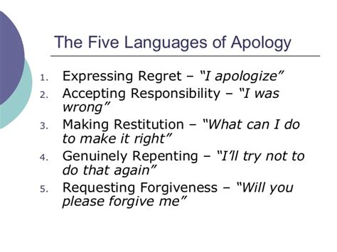 Learning The Language Of God five languages of apology