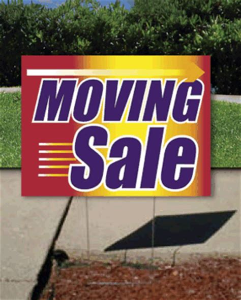 Moving Garage Sale by Coroplast Yard Sign Moving Sale Signs4retail