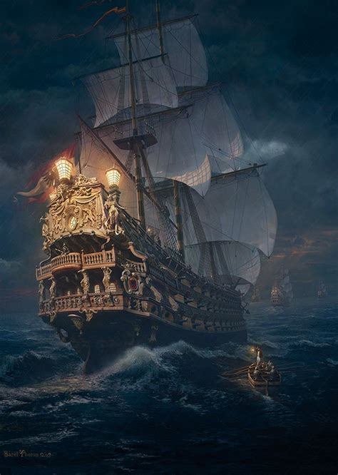 ship jigsaw puzzles rough waters ahead in the view of on the high seas a 1000