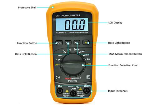 Multimeter Digital Malaysia peakmeter pm8233e handheld digital multimeter auto manual