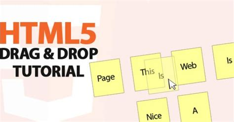 the problem with drag and drop web design how to create a simple drag and drop component using html5
