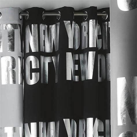 Rideaux Noir Occultant by Rideau Occultant Quot New York Silver Quot 140x260cm Noir