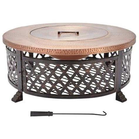home depot pit table home decorators collection 40 in lattice pit table