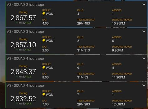 pubg  tracker view detailed stats   match
