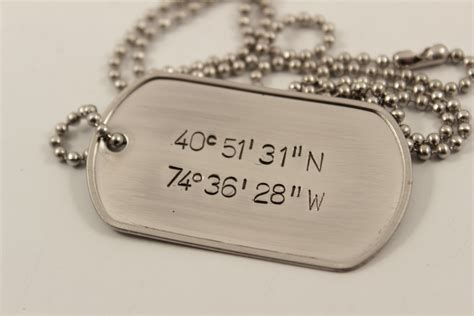 personalized tag necklace buy a crafted personalized custom sted tag pendant with chain made to