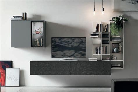 pareti porta tv a052 parete attrezzata con mobile porta tv e libreria
