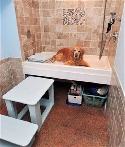 raised dog bathtub raised dog wash in the laundry room the dog house