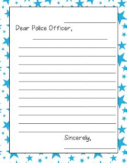 printable thank you card for police officer 9 11 activities erica s ed ventures