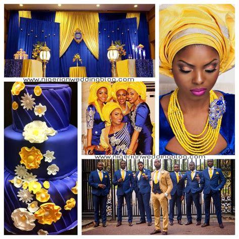 peach navy blue nigerian nigerian wedding nigerian wedding navy blue yellow
