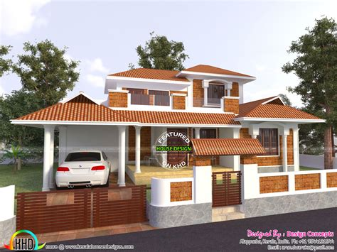 traditional house design modern traditional house with same sq ft kerala home