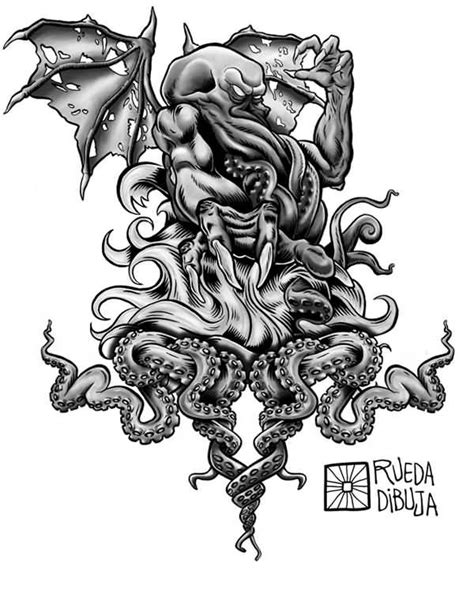 cthulhu tattoo design black and grey cthulhu design idea cthulhu