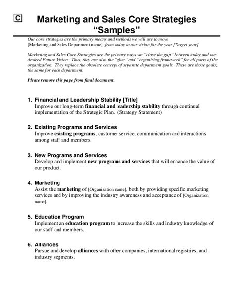 strategy statement template pretty strategy statement template gallery exle