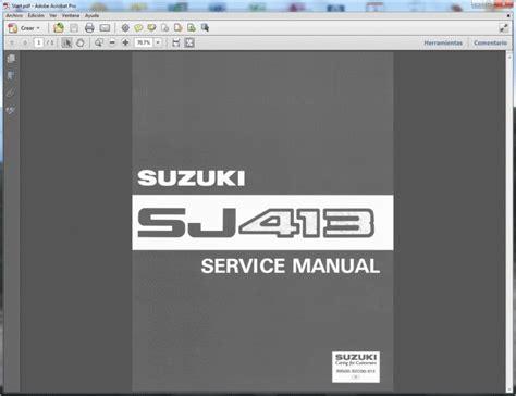 car repair manuals online pdf 1992 suzuki samurai user handbook suzuki samurai sj413 service manual manual de taller manuel de reparation reparaturanleitung