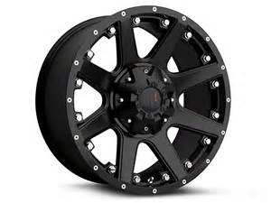 12 offset 09 14 all havok off road h102 matte black 6 lug wheel 18x9