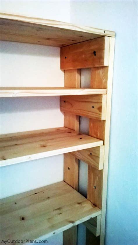 diy wood garage shelves myoutdoorplans