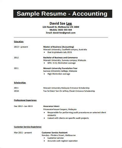 college student resume exle 9 sles in word pdf