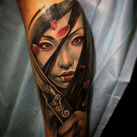 girl japanese tattoo designs beautiful asian samurai ideas