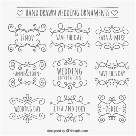 ornaments wedding wedding ornaments vector free