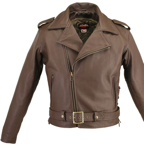 brown motorcycle jacket belted brown motorcycle leather jacket with side and