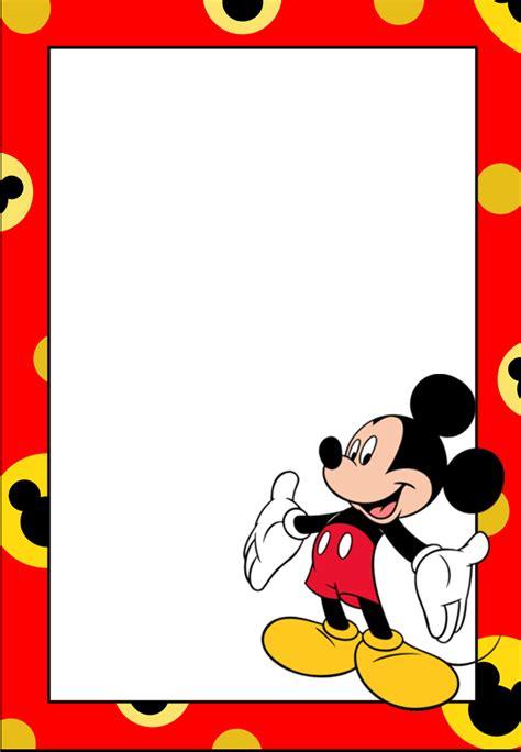 como hacer a mickey mouse en hoja cuadriculada a cuadritos marcos invitaciones tarjetas o etiquetas de mickey mouse
