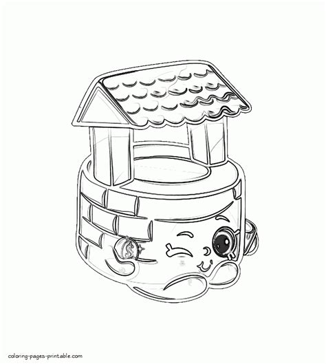 penny wishing well shopkin coloring page free printable shopkin coloring printables penny wishing well