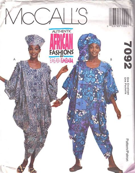 sewing patterns in south africa mccalls 7092 misses authentic african dress jumpsuit