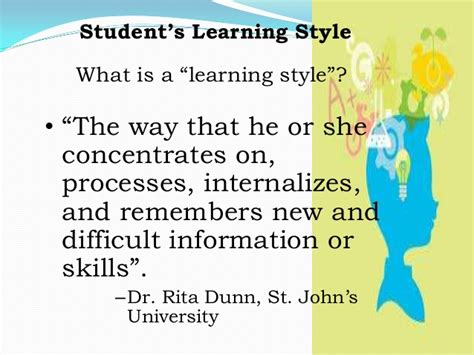 definition of style learner definition and theories of learning student s