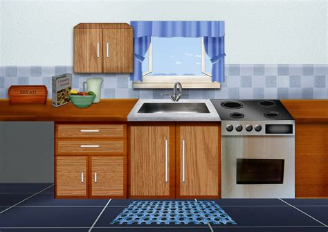 Kitchen Backdrops by Sain Creationz Illustrations For A Short Animation On