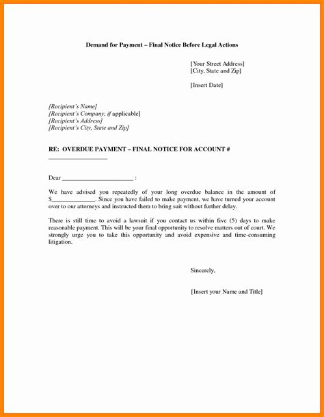 demand for payment letter letter of payment demand images cv letter and 1183