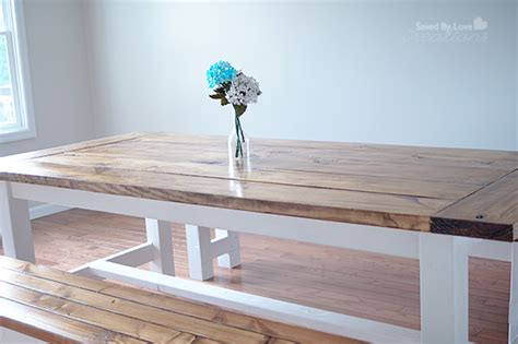 farmhouse table and bench plans diy farmhouse table and bench using free plans from ana white