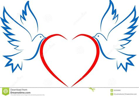 downloads by tradebit com de es it dos paloma y corazones ilustraci 243 n del vector ilustraci 243 n de emoci 243 n 32250685
