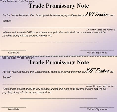 16 Promissory Note Template Free Premium Templates Promise To Pay Note Template